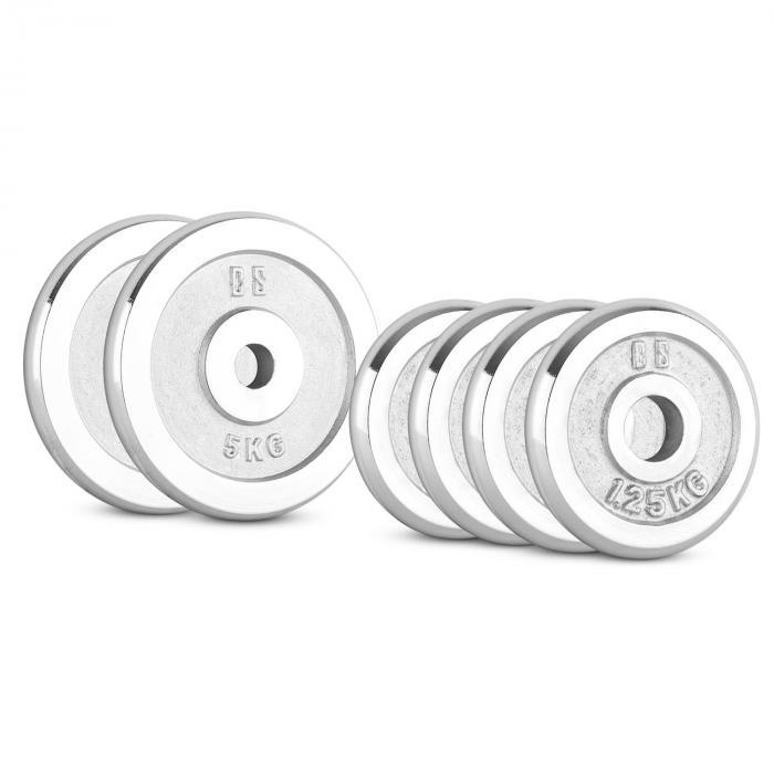 CP 15 kg Set Gewichtsscheibenset 4 x 1,25 kg + 2 x 5 kg 30 mm