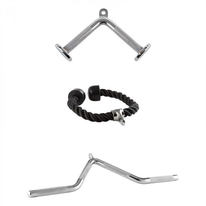 Taljaveto Triceps 3 setti 2 x kromattu teräs 1x nailoni
