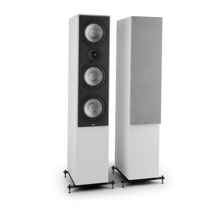 Reference 801 3-tie tornikaiutinpari valkoinen sis. suojuksen hopea