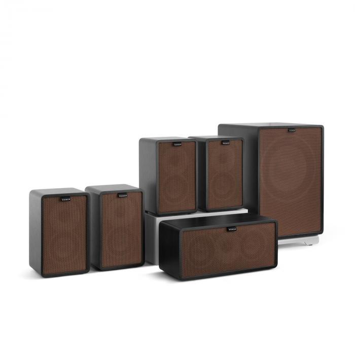 Retrospective 1979-S 5.1 -äänentoistojärjestelmä musta suojus ruskea