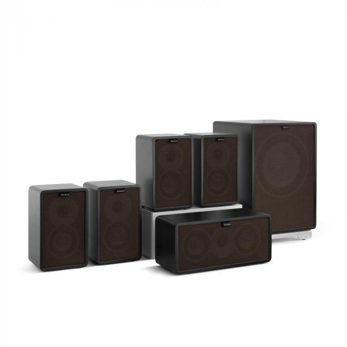 Retrospective 1979-S 5.1 -äänentoistojärjestelmä musta suojus musta-ruskea