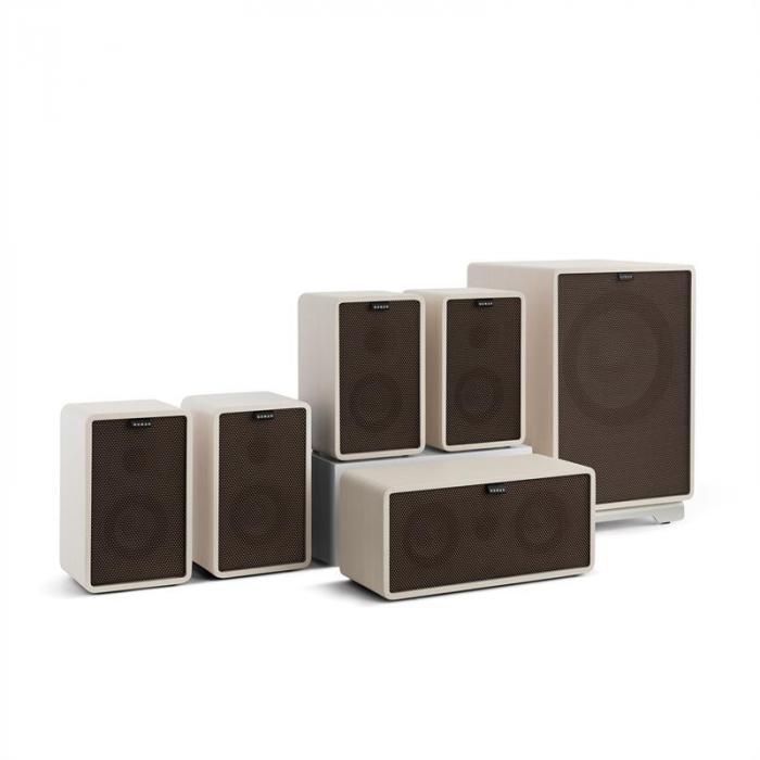 Retrospective 1979-S 5.1 Soundsystem bianco incl. Cover nero-marrone