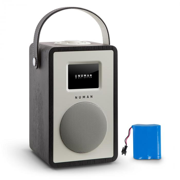 Mini Two design-internetradio WiFi DLNA Bluetooth DAB+ FM AUX musta