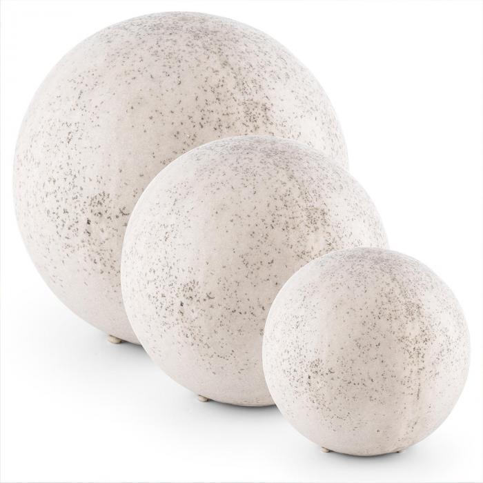 Gemstone Steinleuchten-Set 3 Kugelleuchten 3 Größen Naturstein-optik