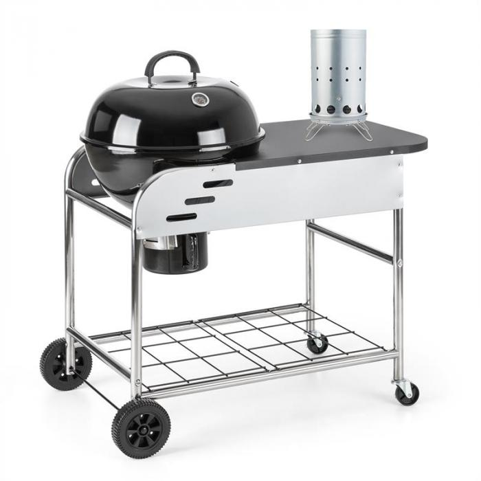 Meatpacker Set XXL houtskoolgrill BBQ smoker + elektrische ontsteking