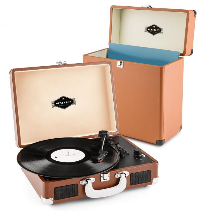 Auna Peggy Sue Record Collector Set Brown | Retro Platenspeler | Platenkoffer