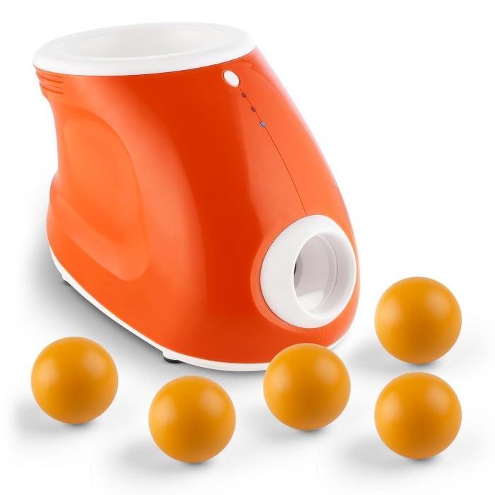 Maszyna do wyrzucania piłek + zestaw 5 zapasowych piłek dla psów 3 odległości wyrzucania 8 piłek poliuretanowych