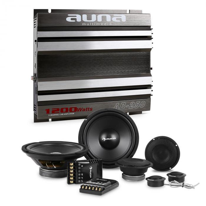 CS-Comp-8 Car HiFi Set 2-Channel Power Amplifier Speaker Set & 2-Channel Power Amplifier