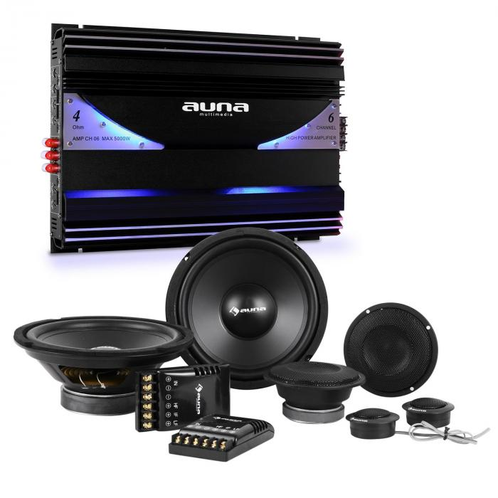 S-Comp-8 Car HiFi Set 6-Channel Power Amplifier Speakers | 6-Channel Power Amplifier