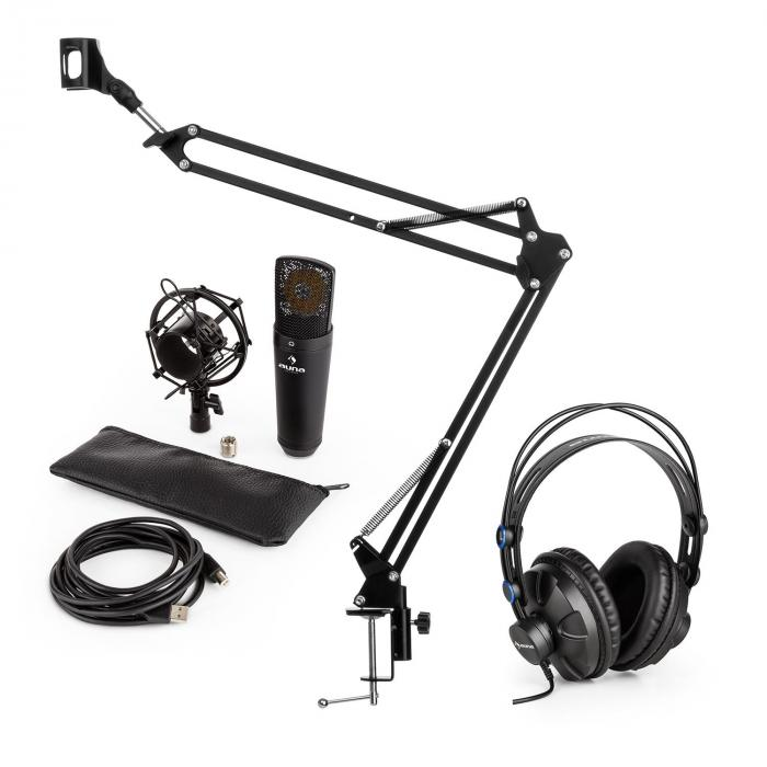 Auna MIC920B USB microfoonset V3 studiokoptelefoon condensatormicrofoon microfoonarm