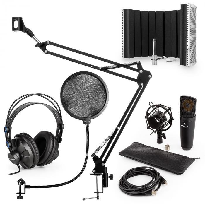 Auna MIC-920B USB microfoonset V5 koptelefoon microfoonarm popfilter microfoonscherm