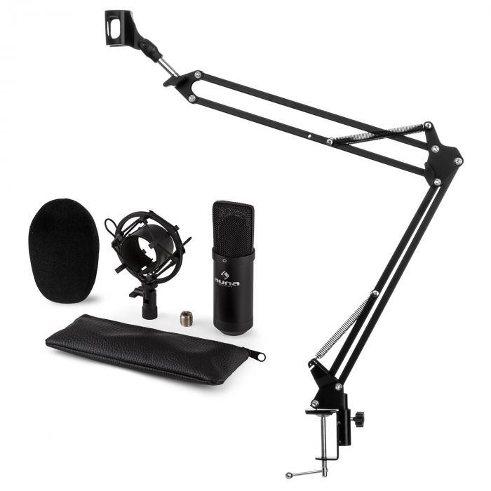 CM001B Juego de micrófono V3 Micrófono de condensador Brazo para micrófono negro