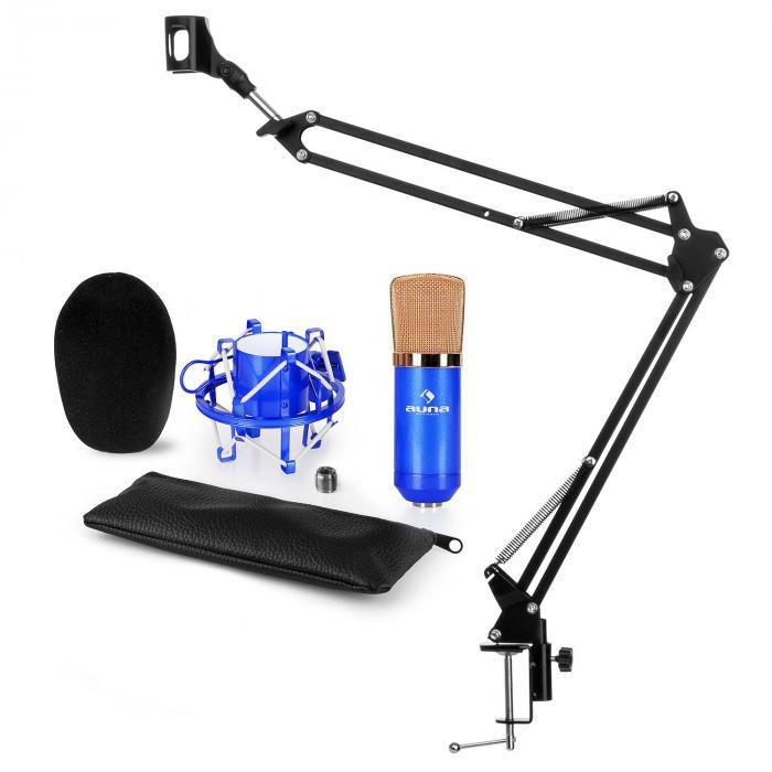 CM001BG mikrofonisetti V3 kondensaattorimikrofoni mikrofonipidike sininen