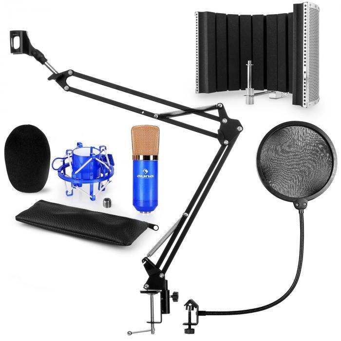 CM001BG mikrofonisetti V5 kondensaattormikrofoni jalusta pop-suoja suojus