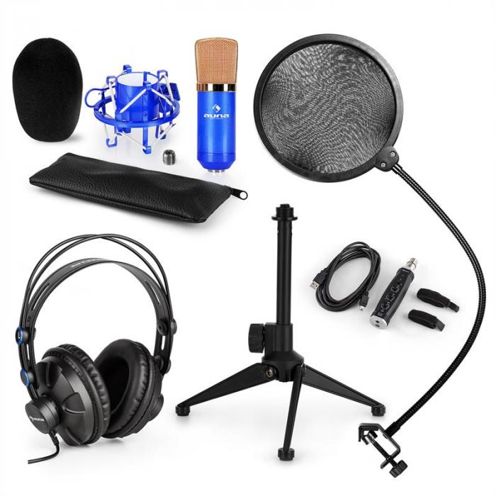 CM001BG Microphone Set V2 Headphones Condenser Microphone Blue