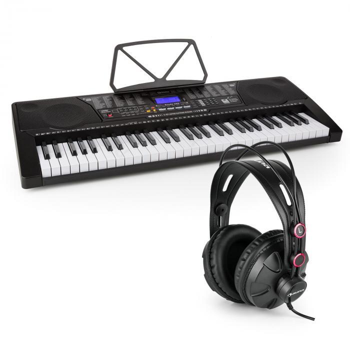 Etude 225 USB Lern-Keyboard mit Kopfhörer 61 Tasten USB LCD Display