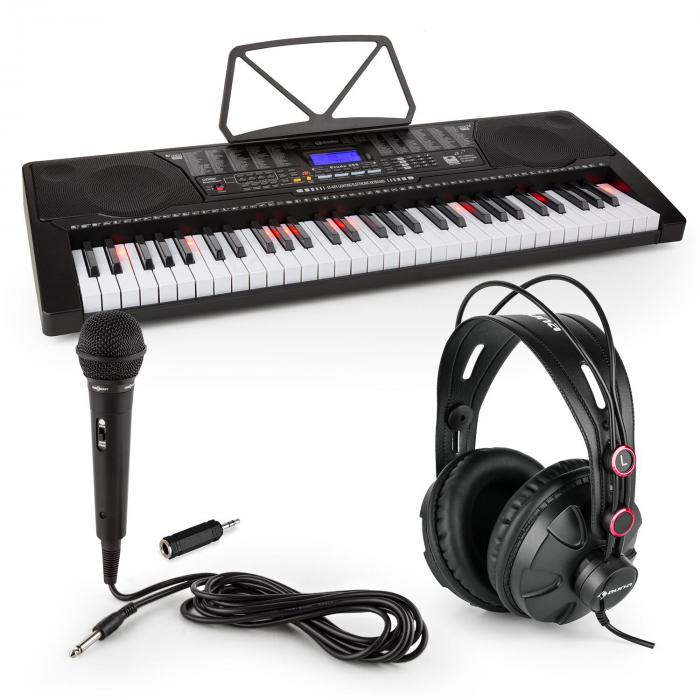 Etude 225 USB Learning Keyboard with Headphones, Microphone and Jack Adapter