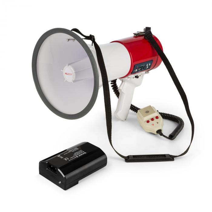 Auna 80W megafon MEGA080USB czerwony akumulatorek