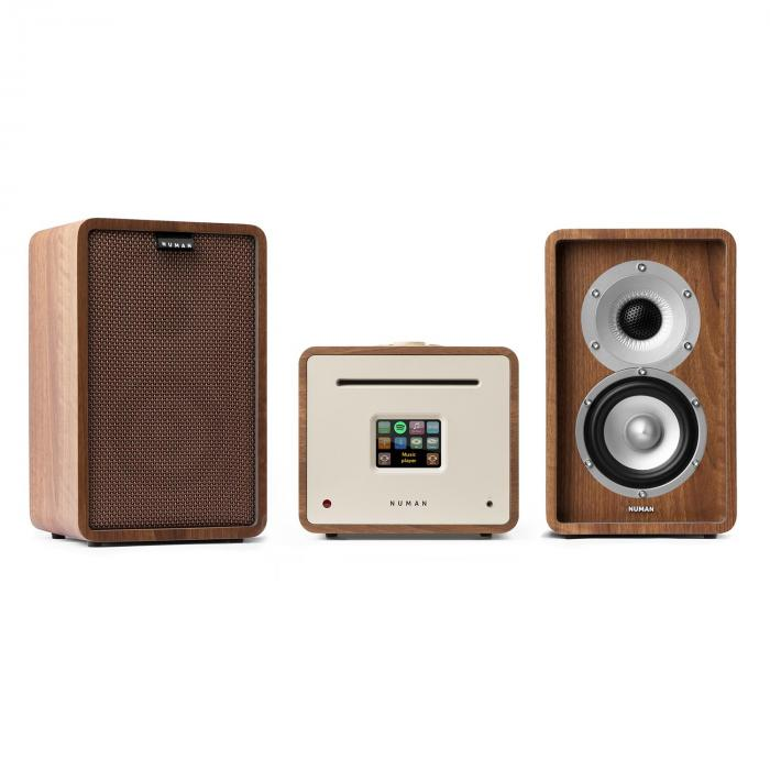 Unison Retrospective 1979S Edition – Stereoanlage Verstärker Boxen + Cover braun / walnuss