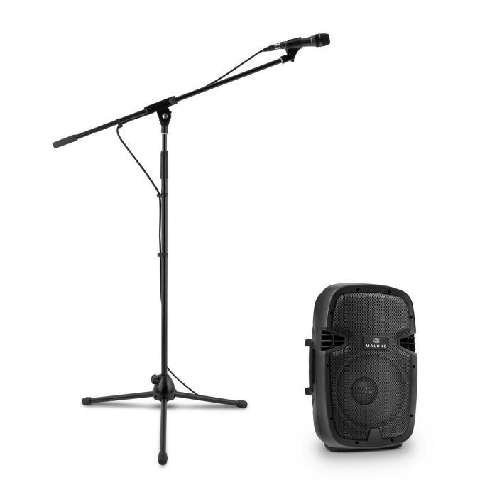 PW-2110 aktiivinen PA-kaiutinsetti mikrofonilla 400 W musta