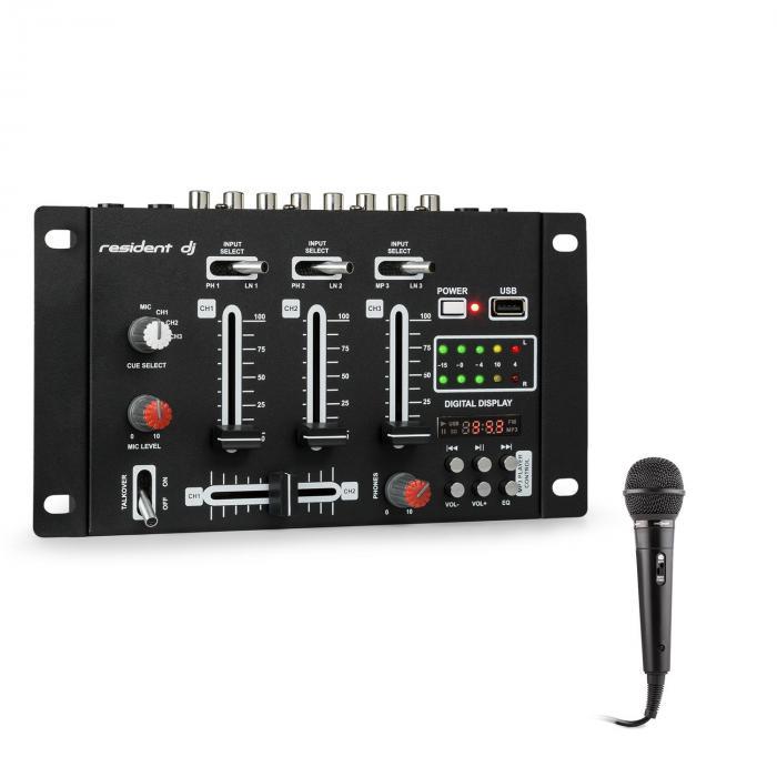 DJ-21 BT Conjunto de misturador DJ USB Microfone preto