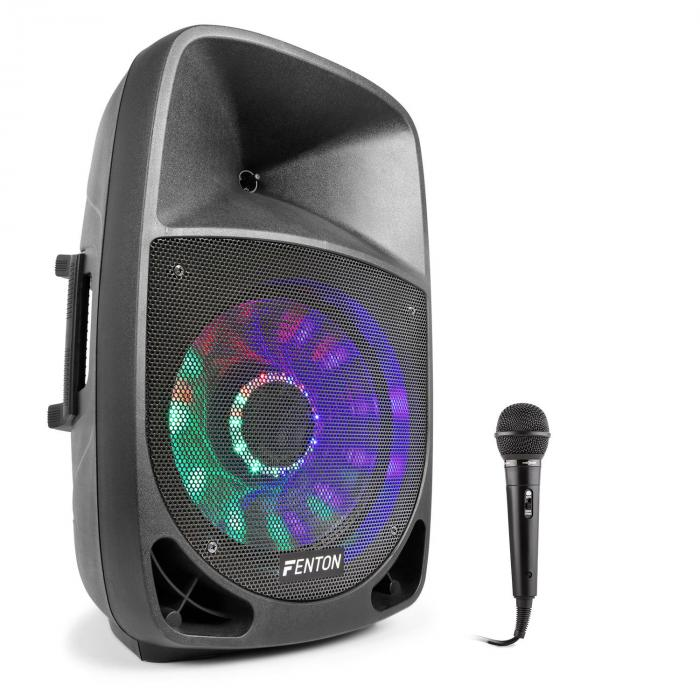 FT1200A Set Altoparlanti Attivi 250W Bluetooth con Microfono nero