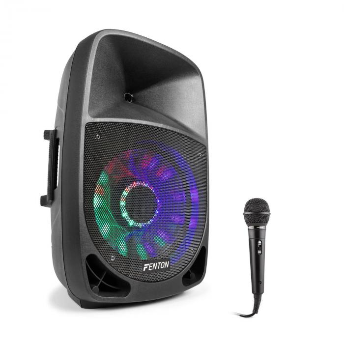 FT1200A Set Altoparlanti Attivi 350W Bluetooth con Microfono nero