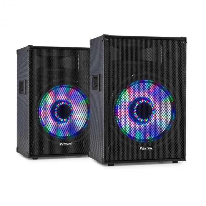 "Fenton TL15LED 3-tie passiivikaiutinpari RGB LED 15"" basso 800 W diskantti"