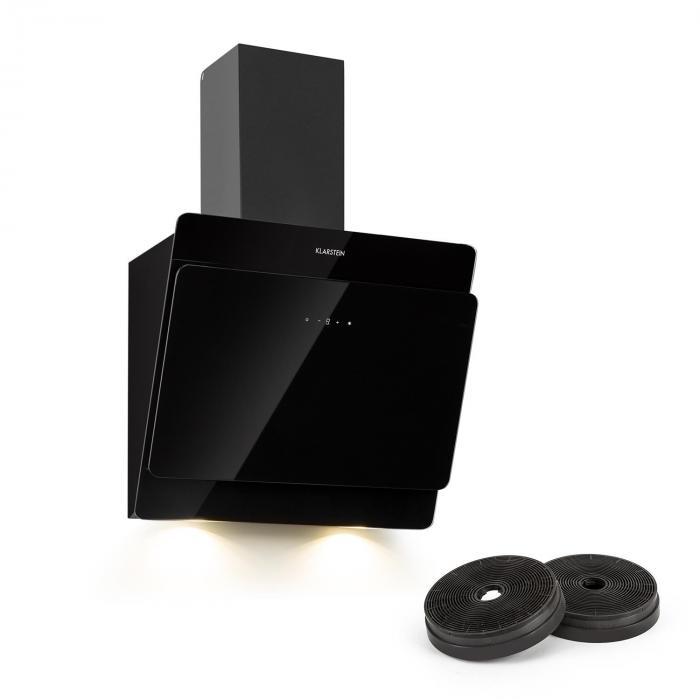 Aurica Cooker Extractor Hood Recirculation Set 60cm Activated Coal Filter Black