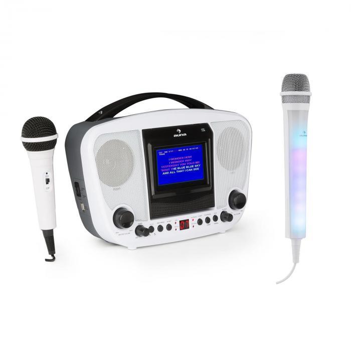 KaraBanga Set Karaoke con microfono Kara Dazzl Bluetooth bianco