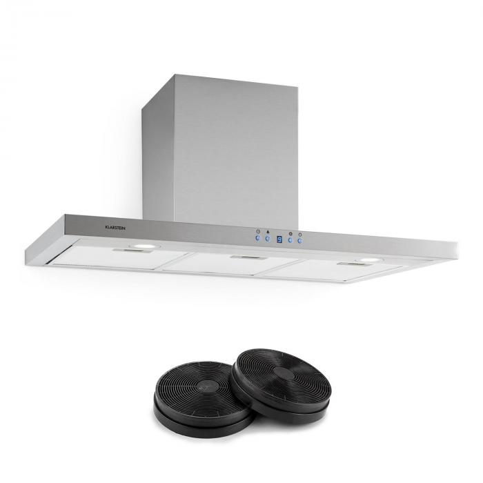 Limelight Cooker Extractor Hood Recirculation Set 90cm 620 m³ / h 2 Activated Carbon Filters