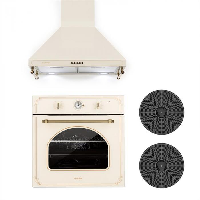 Victoria Set Built-in Oven Extractor Hood Recirculation Set Ivory