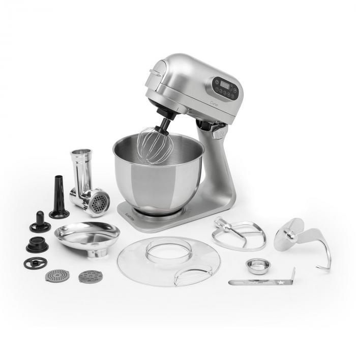 Klarstein Curve Plus robot kuchenny zestaw | 5l | 4-w-1 maszynka do mięsa | srebrny