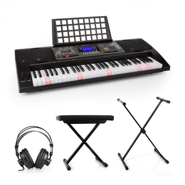 Etude 450 Set Tastiera per Apprendimento Cuffie da Studio Stativo Panca