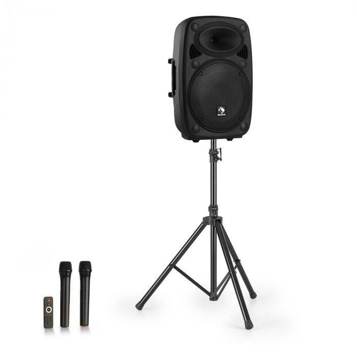 """Auna Streetstar 15 Przenośny zestaw nagłośnieniowy + statyw woofer 15"""" mikrofon UHF 1000 W kolor czarny"""