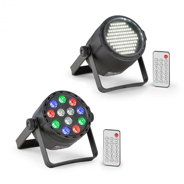Beamz PLS15 zestaw V7 stroboskop LED projektor / reflektor LED PLS25  PAR