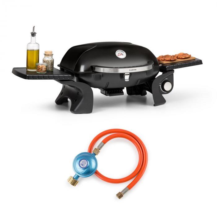 Klarstein Parforce One, 3,5 kW, 12000 BTU 300°C SNJS + gazowy wąż, czarny