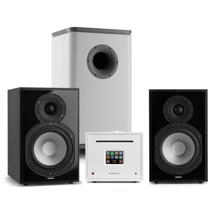 Unison Reference 802 Edition Impianto Stereo Amplificatore Casse nero/bianco