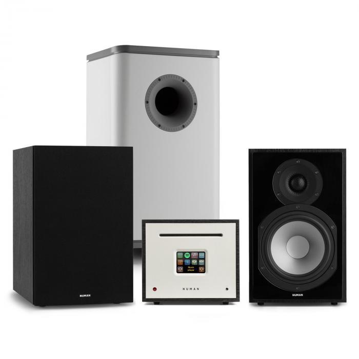 Unison Reference 802 Edition stereot vahvistin kaiuttimet musta/harmaa