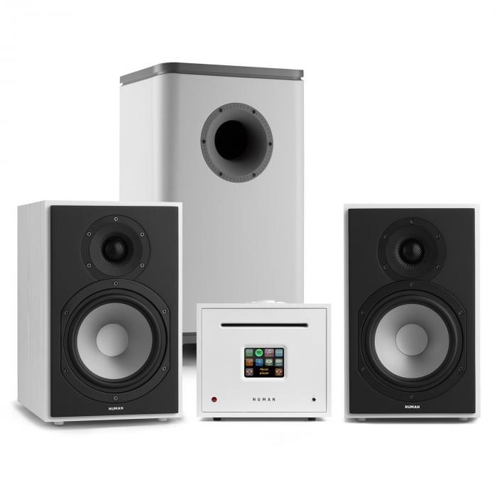 Unison Reference 802 Edition impianto stereo amplificatore casse bianco/grigio chiaro