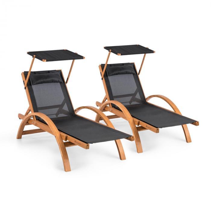 Blumfedlt Lettino da giardino Panamera 2 posti a sedere ComfortMesh: 150 kg nero