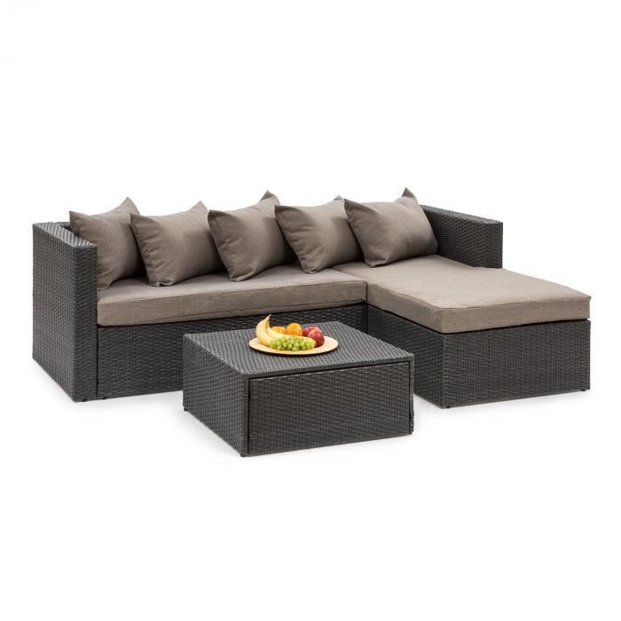 Poly Rotin Jardin Lounge Ensemble de jardin marron salon en poly rotin mobilier de jardin Set