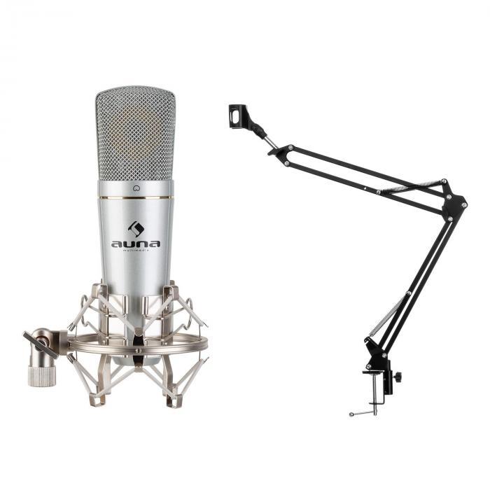 Auna MIC-920 USB, zestaw mikrofonowy V3, mikrofon pojemnościowy, ramię obrotowe, torba ochronna
