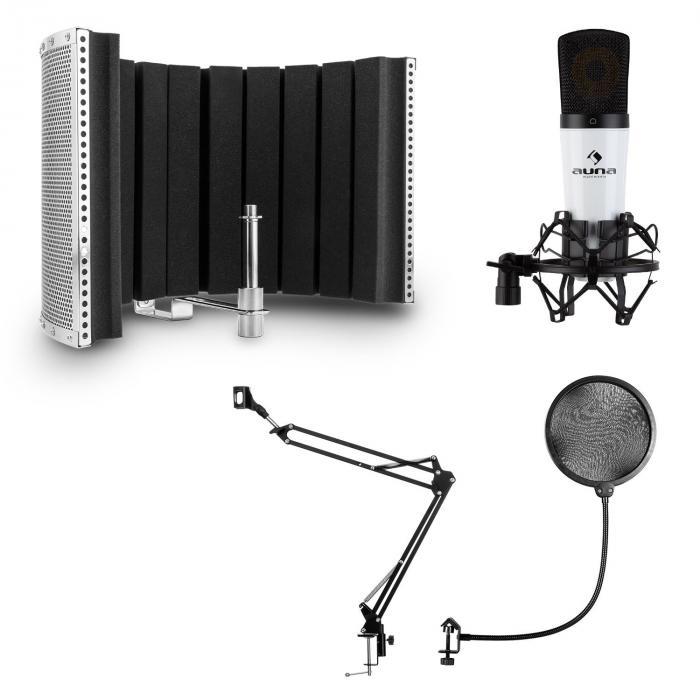 Auna MIC-920, zestaw mikrofonowy USB V5, mikrofon, ramię odchylane, pop-filtr, ekran