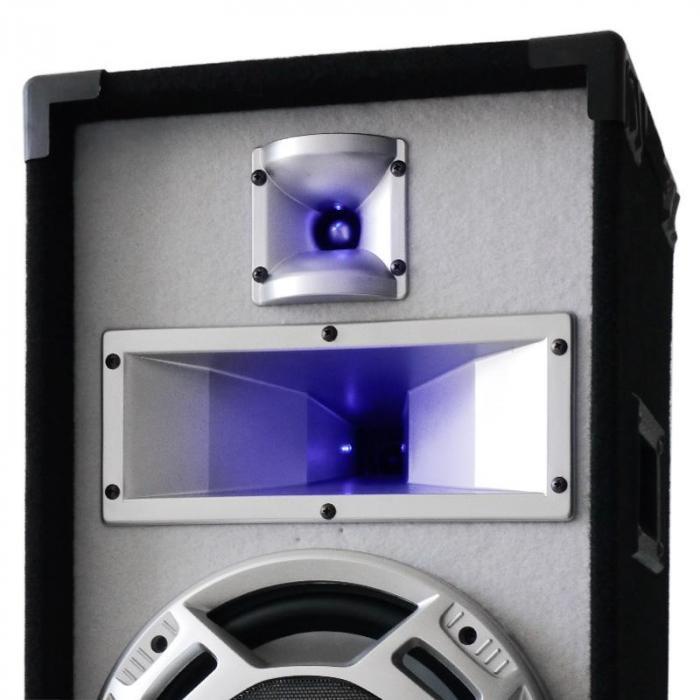 """DJ- PA-setti """"PolarFox"""" mikseri, amp, kaiuttimet 1500W"""