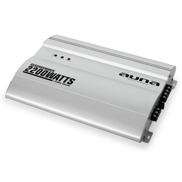 Silverhammer Set Impianto HiFi Per Auto | Altoparlante Set Completo | Amplificatore A 2 Canali