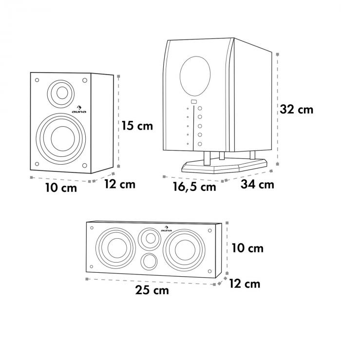Areal 525 WD 5.1 AUX aktywny system głośników 125W