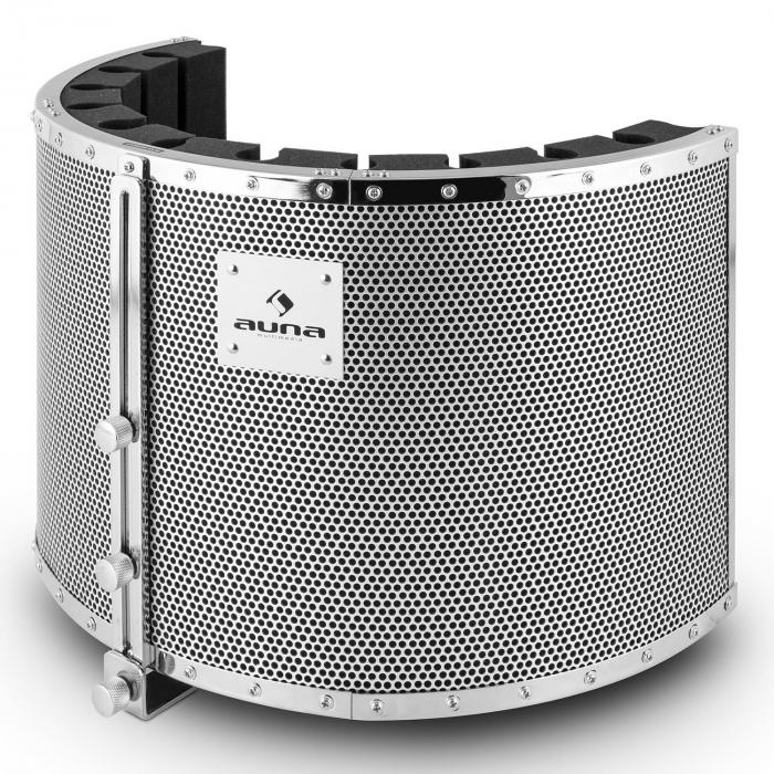 MIC-900WH-LED Set Microfoni USB Condensatore V5 Anti-Pop Bianco