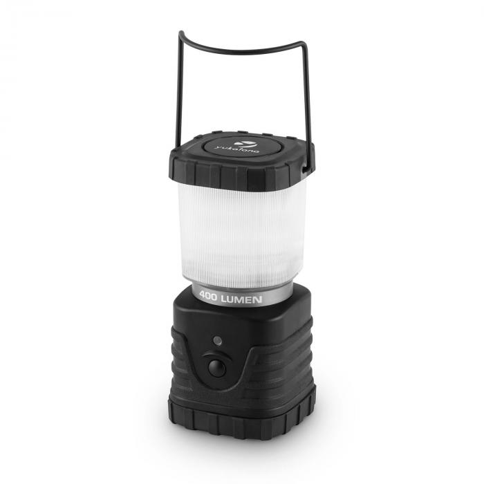 Yeridanus Camping Lantern LED 400 Lumens Square 150h 12m Black