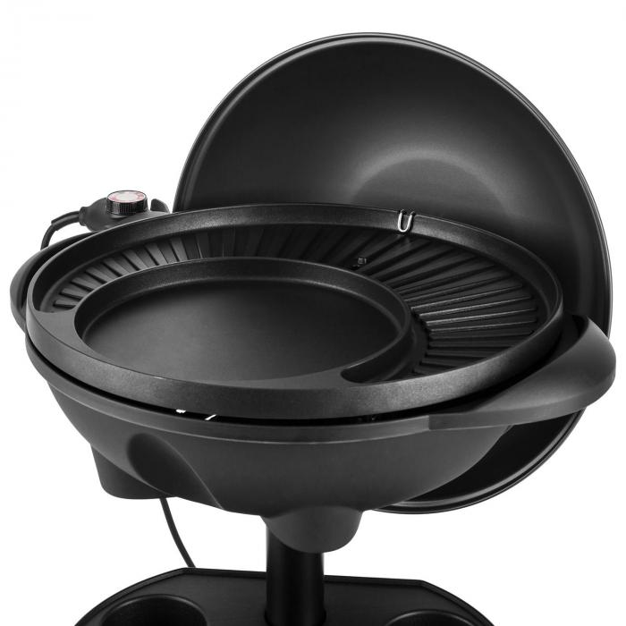 grillpot elektrogrill 1600w standgrill tischgrill 40cm grill gusseisen online kaufen. Black Bedroom Furniture Sets. Home Design Ideas